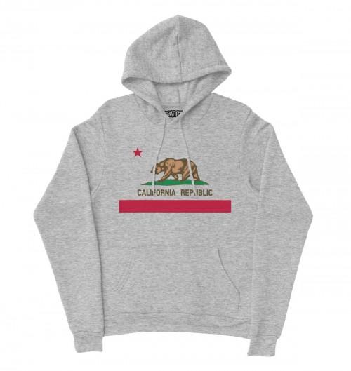 Hoodie California Republic pour Homme de couleur Gris chiné
