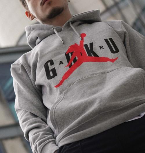 Hoodie Air Goku pour Homme de couleur Gris chiné