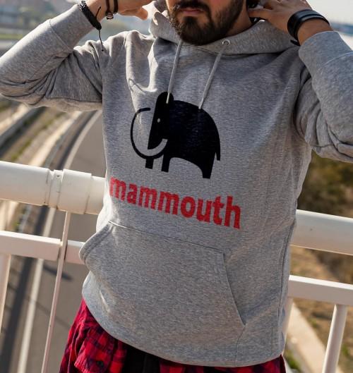 Hoodie Logo Mammouth pour Homme de couleur Gris chiné