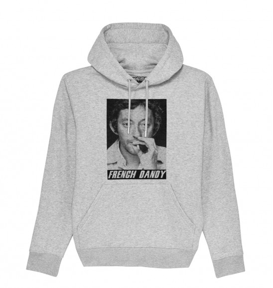 Hoodie Gainsbourg French Dandy pour Homme de couleur Gris chiné