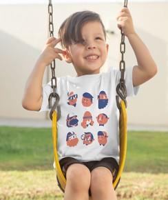 T-shirt pour Enfants 9 looks de couleur Blanc