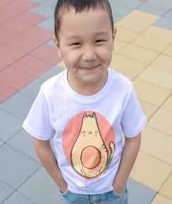 T-shirt pour Enfants Avochat de couleur Blanc