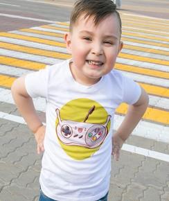 T-shirt pour Enfants Manette Nintendo de couleur Blanc