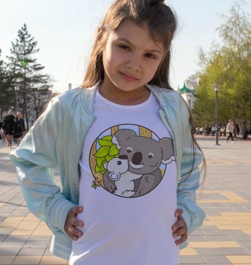 T-shirt pour Enfants Koalas de couleur Blanc