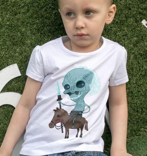T-shirt pour Enfants White Walker (enfant) de couleur Blanc