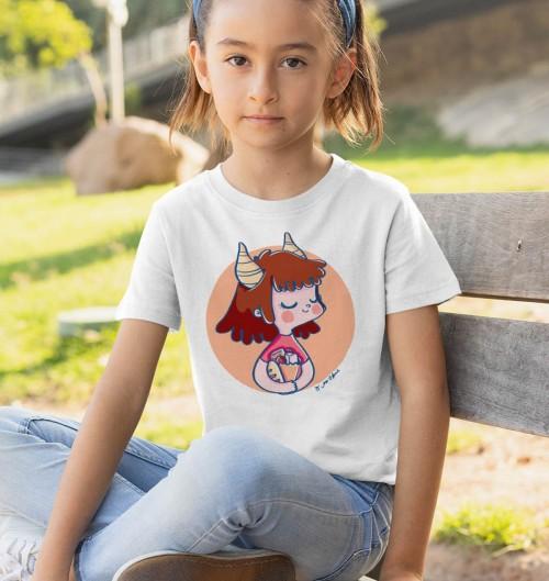 T-shirt pour Enfants Signe capricorne de couleur Blanc