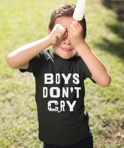 T-shirt pour Enfants Boys don't cry de couleur Noir