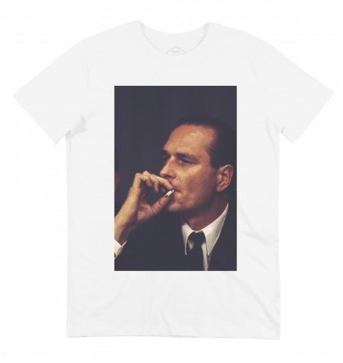 T-shirt pour Homme Chirac BG (en promo) de couleur Blanc
