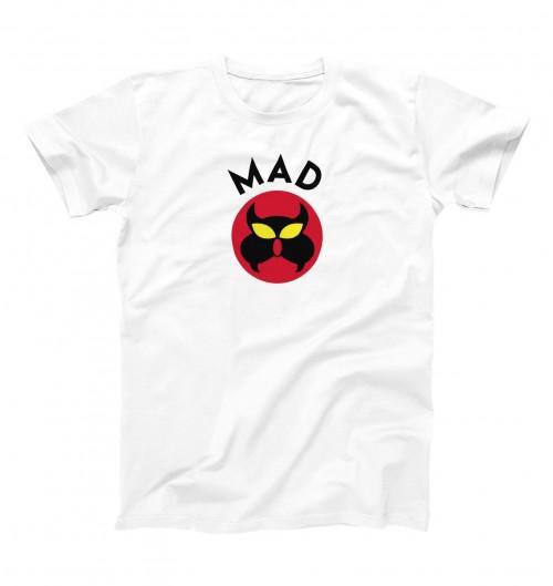 T-shirt pour Homme Agent MAD (en promo) de couleur Blanc