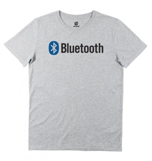 T-shirt pour Homme Bluetooth (en promo) de couleur Gris chiné