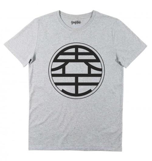 T-shirt pour Homme Kanji Kaio (en promo) de couleur Gris chiné