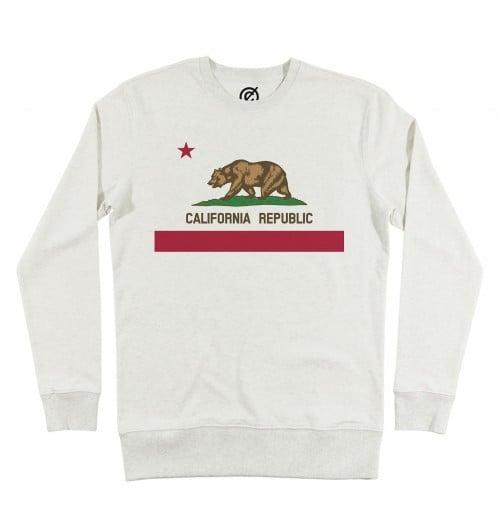 Sweat pour Homme California Republic (en promo) de couleur Beige chiné