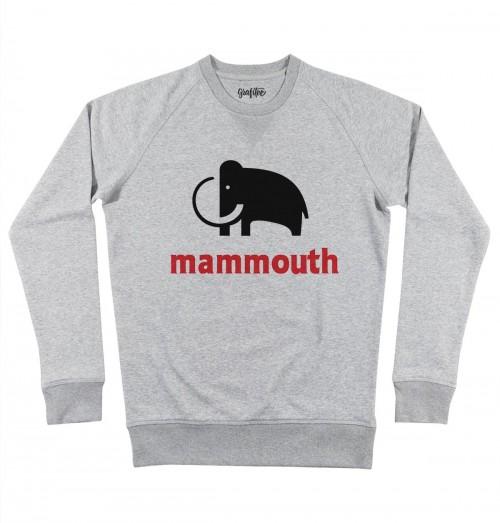 Sweat pour Homme Mammouth (en promo) de couleur Gris chiné