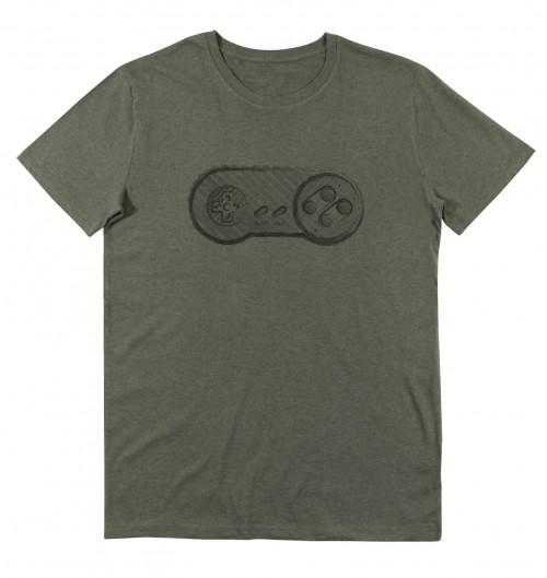 T-shirt pour Homme Gamepad Nintendo (en promo) de couleur Kaki