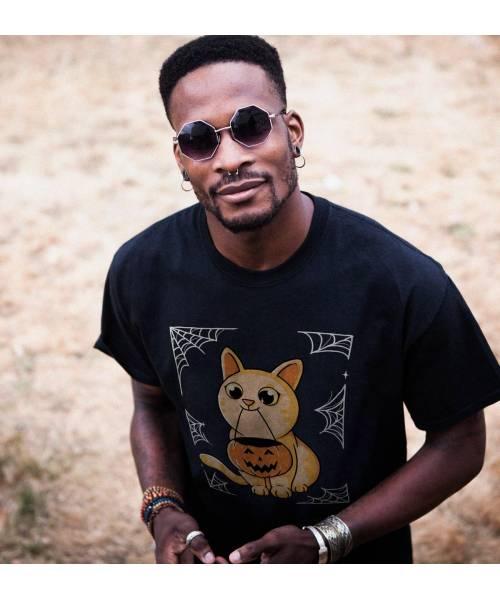 T-shirt pour Homme Challoween de couleur Noir
