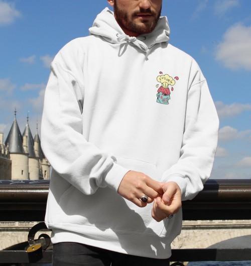 Hoodie A better future pour Homme de couleur Blanc