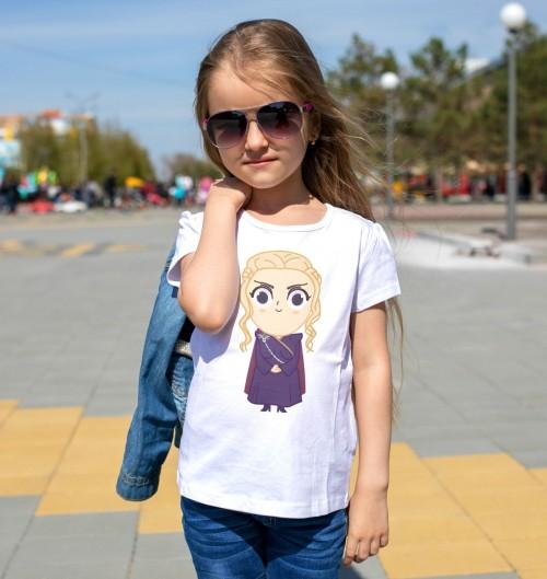 T-shirt pour Enfants Daenerys de couleur Blanc