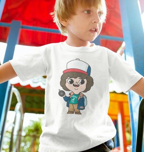T-shirt pour Enfants Dustin Randonnée de couleur Blanc