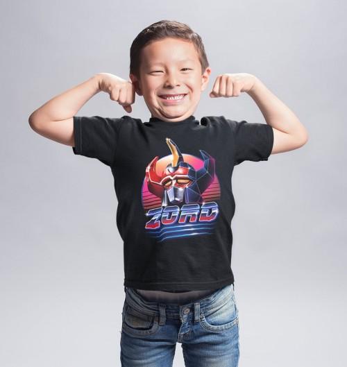 T-shirt pour Enfants Rad Zord de couleur Noir