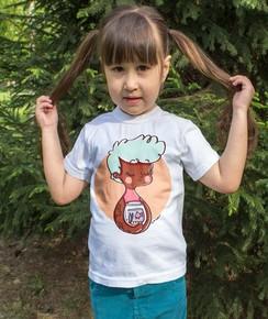 T-shirt pour Enfants Signe Poissons de couleur Blanc