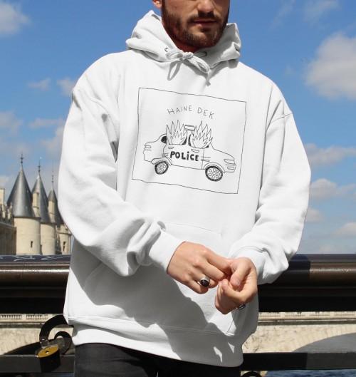 Hoodie Haine Dek pour Homme de couleur Blanc