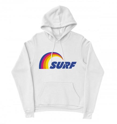 Hoodie Logo Surf pour Homme de couleur Blanc