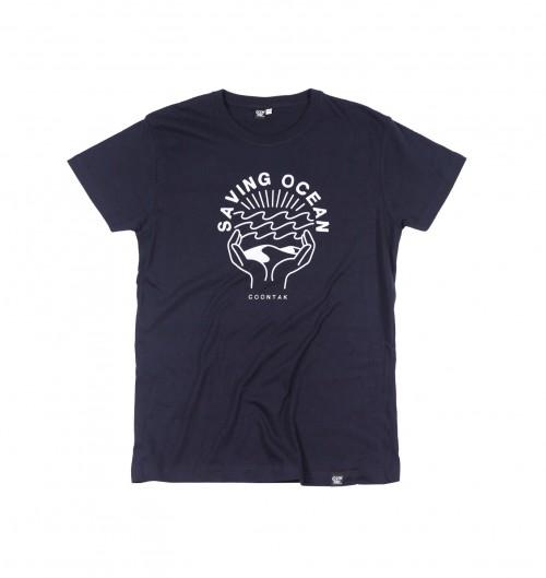 T-shirt pour Homme Saving Ocean de couleur Bleu