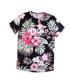 T-shirt pour Homme Floral Black de couleur Noir