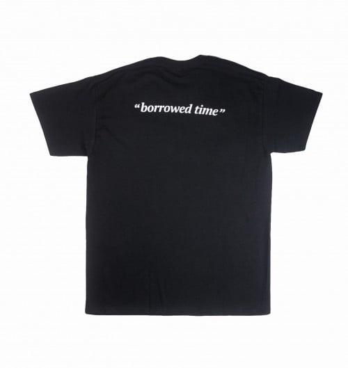 T-shirt pour Homme Borrowed Time de couleur Noir