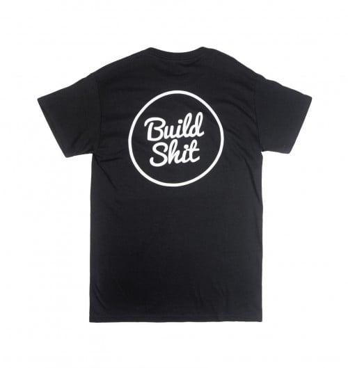 T-shirt pour Homme Build Shit de couleur Noir