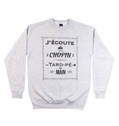 Sweatshirt pour Homme Chopin de couleur Ash