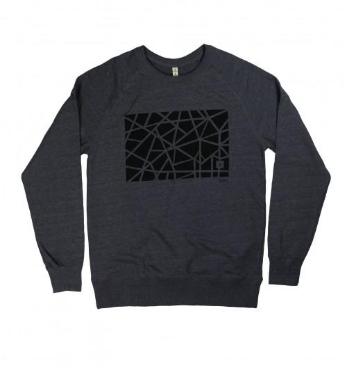Sweatshirt pour Homme Paris de couleur Anthracite