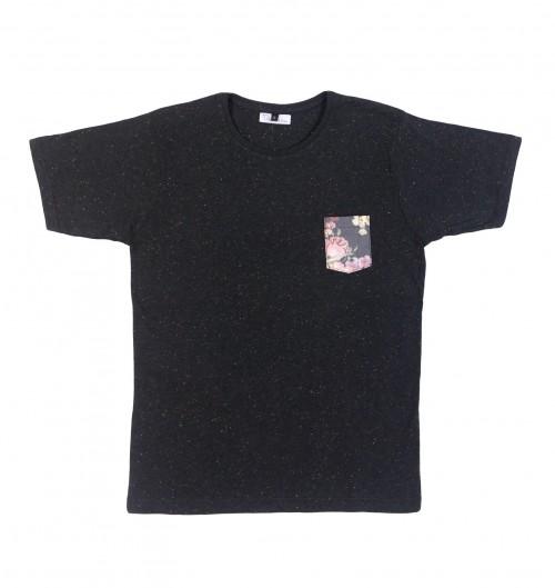 T-shirt pour Homme Barcelone de couleur Noir