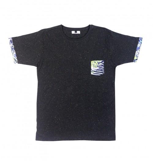 Tee-shirt pour Homme à Poche Berlin de couleur Noir
