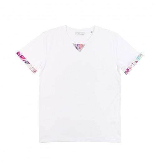T-shirt pour Homme Honolulu de couleur Blanc