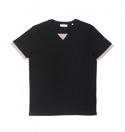 T-shirt pour Homme Cut & Sew Mexico de couleur Noir