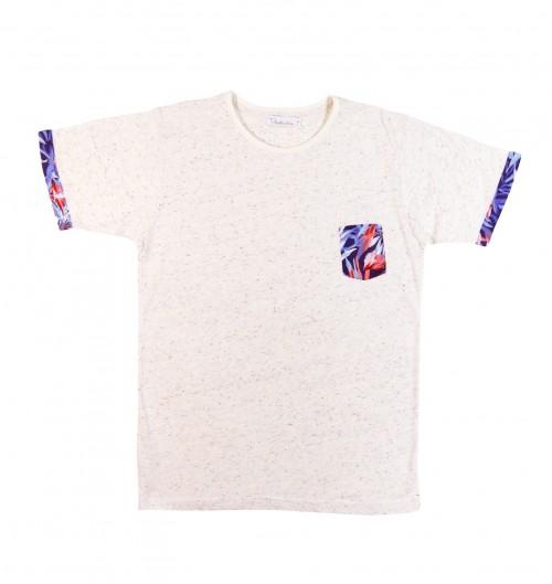 T-shirt pour Homme à Poche Miami de couleur Crème