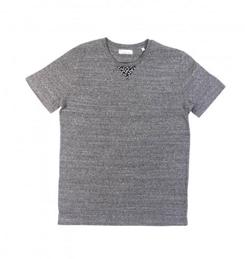 T-shirt pour Homme Montréal de couleur Gris chiné