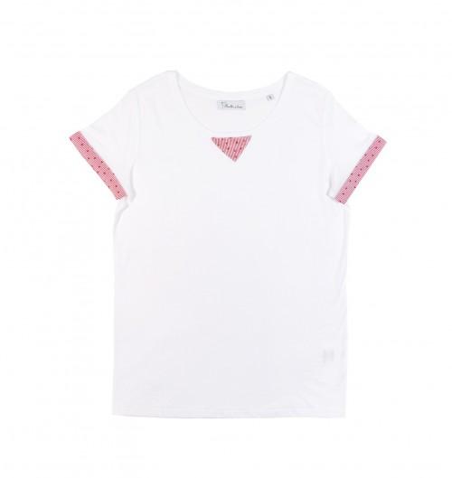 T-shirt pour Femme Moscou de couleur Blanc
