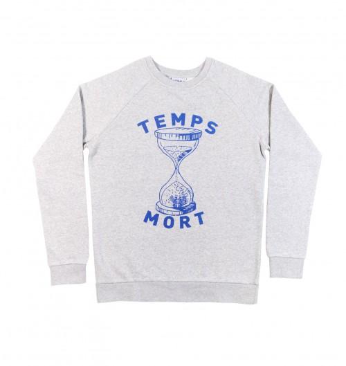 Sweatshirt pour Homme Temps Mort de couleur Gris chiné
