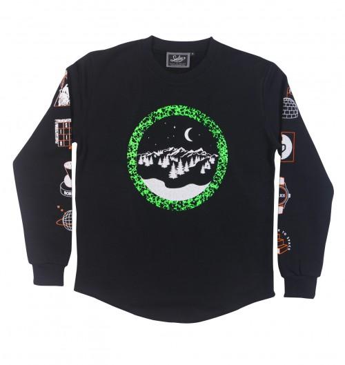 Sweatshirt pour Homme Winter Paradise de couleur Noir