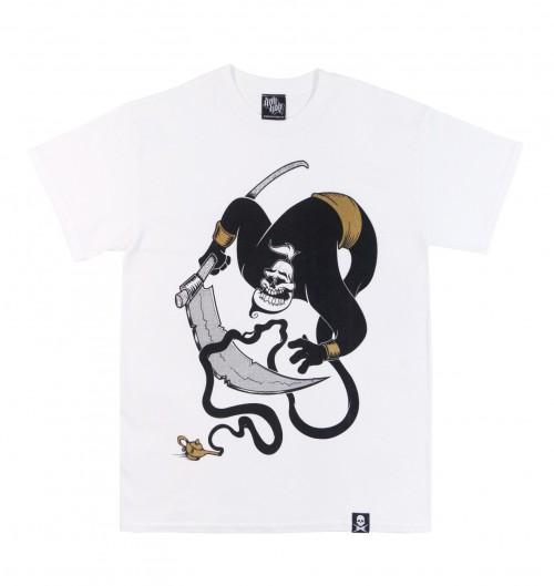 T-shirt pour Homme Deth Wish de couleur Blanc