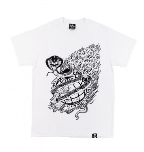 T-shirt pour Homme New World Disorder de couleur Blanc