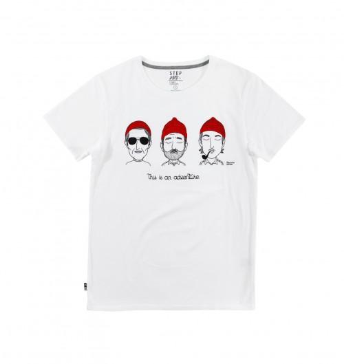 T shirt An Adventure pour Homme de couleur Blanc