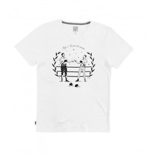 T shirt Jeu de Main pour Homme de couleur Blanc