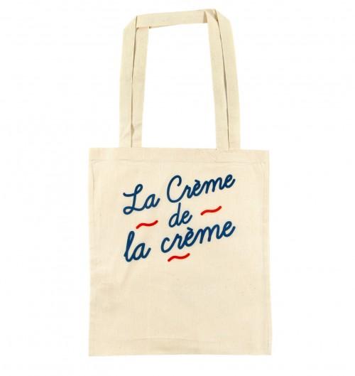 Tote-Bag La Crème de couleur Crème