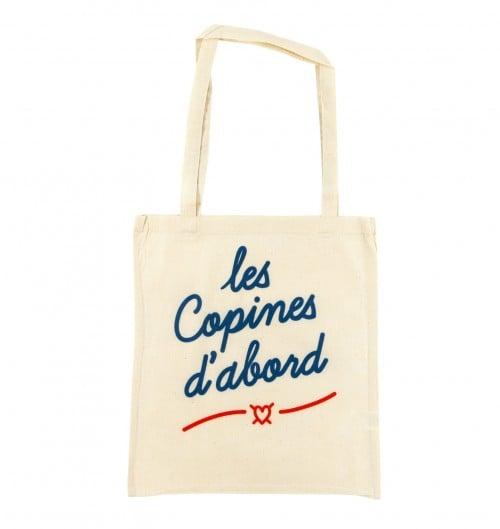 Tote Bag Les Copines de couleur Crème