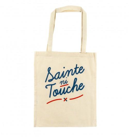 Tote Bag Sainte Ni Touche de couleur Crème