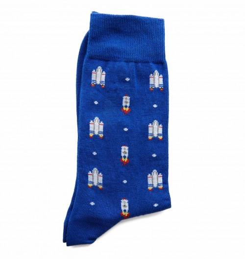 Chaussettes NASA pour Unisexe de couleur Bleu