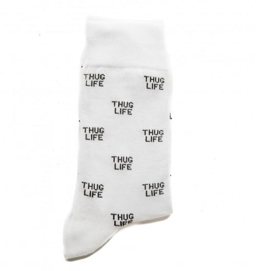Chaussettes Thug Life pour Unisexe de couleur Blanc